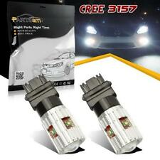 2x White High Power 25W Cree LED Back up Reverse Light 3156 3157 4057 4157