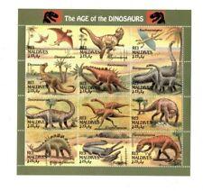 VINTAGE CLASSICS - MALDIVES - 9411 Dinosaurs Sheetlet of 12 Stamps  - MNH