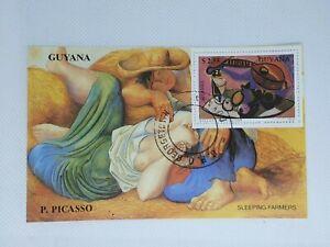 Guyana 1990 Picasso souvenir stamp sheet CTO