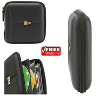 CD DVD Wallet Case Holder 24 Disc Storage Organizer Prevent Scratching Travel-BL