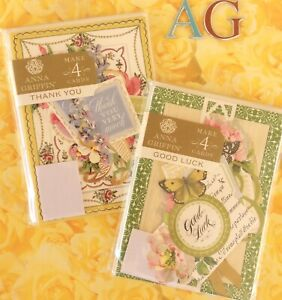 Anna Griffin Card Making Kits Good Luck + Thank You 8 Total Greeting Cards