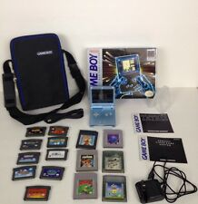 HUGE LOT Nintendo Game Boy Advance SP AGS101 Brighter Screen Pearl Blue