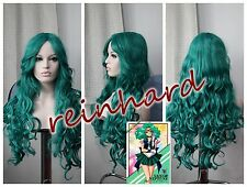 SAILOR MOON -Sailor Neptune cosplay anime Wig-Dark Green Curls