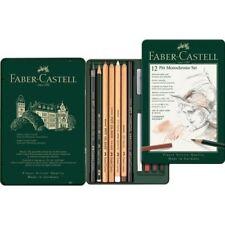 Faber CASTELL PITT Monocromo Lápices Set-Lata De 12 - 112975