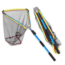 Large Fishing Landing Net Foldable Telescopic Alumilum Alloy Frame + EVA Handle