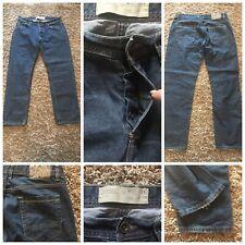 "mens burton jeans blue cotton W 36"" L 30"" blue button fly used (86)"