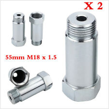 2p Zinc Plated Steel O2 Oxygen Sensor Extension Spacer Adapter M18 x 1.5  55mm