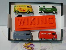Wiking 2170 01 - Volkswagen T1 Bus Geschenkpackung mit 4 Modellen Neuheit April