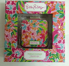 Lilly Pulitzer 30 pin iPhone 4 charger Lulu floral print iPod mobile phone NIB