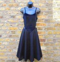 Comme des Garcons For H&M Women's Black Cami Sleeveless Bodice Dress Size UK 6-8
