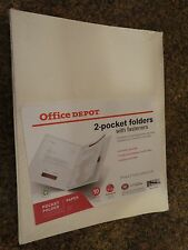 Office Depot 2-Pocket Folders with fasteners - 10 counts
