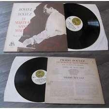 PIERRE BOULEZ - Le Marteau Sans Maître LP Classical Contempory Label Ades 1972