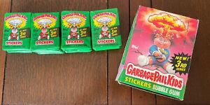 3rd Series Garbage Pail Kids (1) Pack Unopened Sealed 1986 GPK 5 Cards Wax Pack