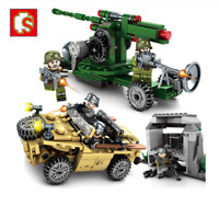 Blocksteine Sembo War Boy Military Figur Spielzeug Modell Geschenk Kind 4in1