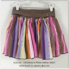 Adorable girls size 10 childrens place cotton skirt with built in shorts