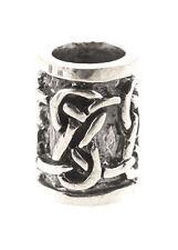 Bartperle m. keltisch. Knoten, Ø5mm Silber Bartschmuck Vikings Wikinger Dreads