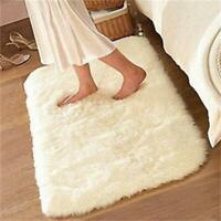 Fluffy Rugs Anti-Skid Shaggy Rug Home Dining Room Bedroom Carpet Floor Mat