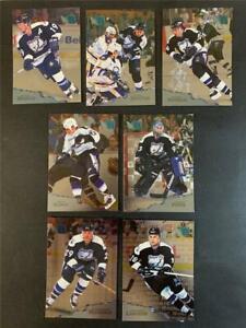 1995/96 Fleer Metal Tampa Bay Lightning Team Set 7 Cards