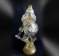 Murano LARGE art glass oriental warrior figurine with gold flecks