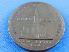 Medaille Rathaus zu Frankenhausen geprägt aus Kupfer der bedachung 1858 29g B42