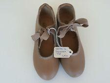 Dance Tap Shoes by Danshuz Girls Size 11.5M Tan with ties