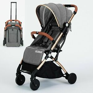 FOLDABLE BABY TROLLEY STROLLER PUSHCHAIR PRAM TODDLER BUGGY FREE RAIN COVER