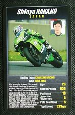 1 x card Top Trumps MotoGP The riders Shinya Nakano Japan