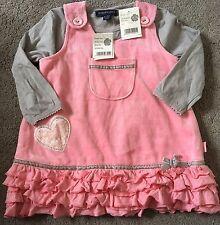 Cute New 2 Set Pumpkin Patch Pink Grey Summer Spring Dress 12-18 Month