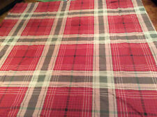 """Cuddle Duds Full/Queen Comforter Red Khaki Plaid Washable Reversable Flannel 90"""""""