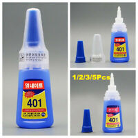 5xNew Loctite 401 Instant Adhesive 20g Bottle Strong Super glue Multi-Purpose