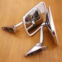 CHROME FENDER MIRRORS FR LEFT AND RIGHT SIDE 2PIECES For 1966-1974 VOLVO 144 NEW
