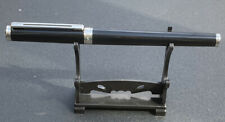 More details for vintage montblanc noblesse oblige rollerball pen - black with platinum trim