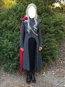 Game of Thrones Daenerys Targaryen Cosplay Costume SMALL Dress Gown w/Wig
