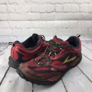 Brooks Cascadia 6 Men's Red Running Shoes Size 12 RUN BIG Style 119911D654 EUC