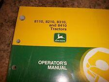 John Deere Operator'S Manual 8110, 8210. 8310, And 8410 Tractors