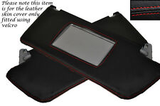 RED STITCH 2X SUN VISORS COVERS FITS VAUXHALL OPEL HOLDEN VECTRA C SIGNUM