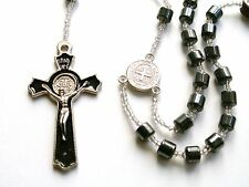 Rosary - hematite Beads Rosary Prayer Necklace - black hematite necklace PR2-A65