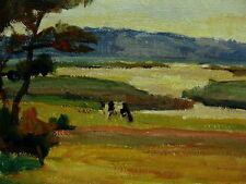 Bror Forssell 1883-1959, Landschaft mit Kuh, datiert 1942