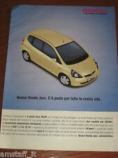 *AP35= HONDA JAZZ =PUBBLICITA'=ADVERTISING=WERBUNG=COUPURE=