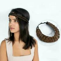 Fashion Synthetic Braided Hair Headband Wig Elastic Band Headband Twist Pri G3X6