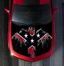 H49 FLAG EAGLE Hood Wrap Wraps Decal Sticker Tint Vinyl Image Graphic