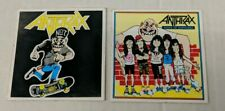 Vintage 1990's Anthrax 2 Sticker Lot State of Euphoria & N.O.T Mosh Skateboard