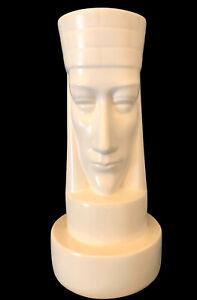 "Vtg Peter Ganine Brayton Pottery White Rook Ceramic 10"" Chess Piece 1947"