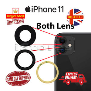 New iPhone 11 Replacement Rear Back GLASS Camera Lens Cover with Adhesive
