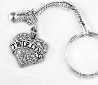 Twirling key chain Twirler keychain Baton twirler present best twirling gift