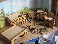 15mm Industrial Estate Wargame Scenery 5 Buildings MDF Flames of War Etc