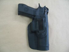 Excam TA90 IWB Leather In Waistband Conceal Carry Holster BLACK  RH