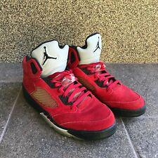 Nike Air Jordan V 5 Retro 2009 Red Raging Bull 136027-601 Sz UK 11 US 12