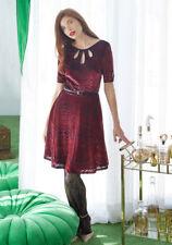 MODCLOTH Present the Event Velvet Dress in Burgundy Sz 3X