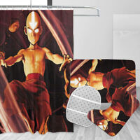 Avatar: The Last Airbender 4PCS Shower Curtain Bath Mat Set Toilet Lid Cover